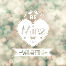 Vector Valentine Card Blurred Flickering Lights Background