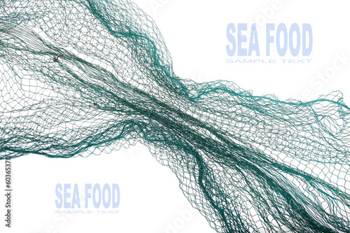 Fototapeta Fishing net with space for your text. obraz
