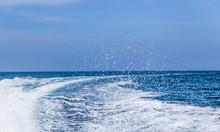 Boat Wake.  Water Wake