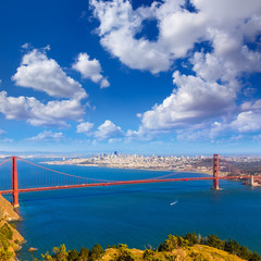 San Francisco Golden Gate Bridge Marin headlands California