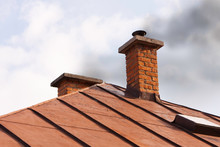 Chimney Of An Old House With Solid Fuel Stove - Improper Burn