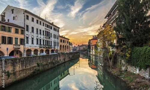 Fotografie, Obraz Padova, sunset by canal