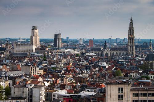 Poster Antwerp Aerial view of Antwerp, Belgium.