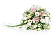 canvas print picture - Bouquet of flowers isolated on white