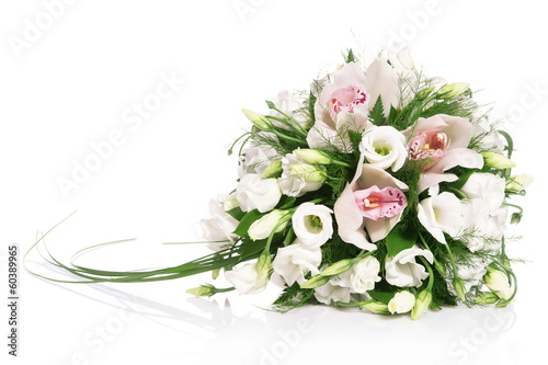 Fotografie, Obraz  Bouquet of flowers isolated on white
