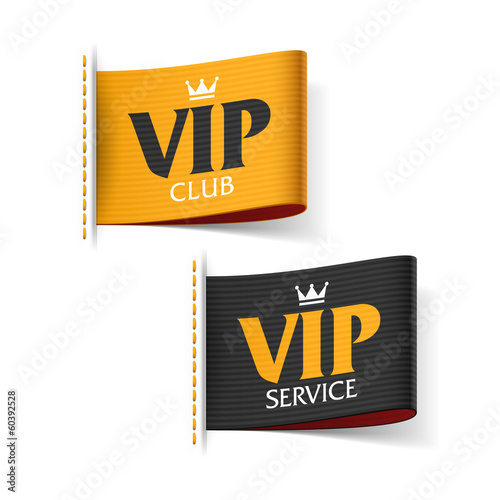 Fotografía  VIP service and VIP club labels