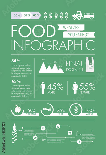 Photo  Food Infographic elements design vector