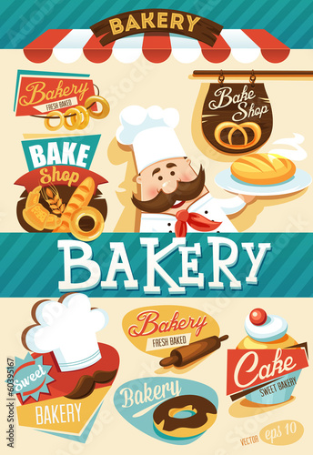 Bakery design elements - 60395167