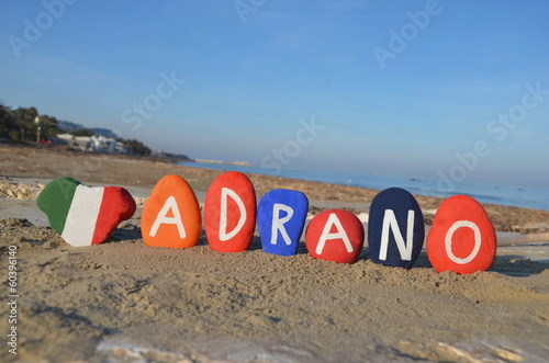 Fotografie, Tablou Adrano , Sicily, souvenir on colourful stones