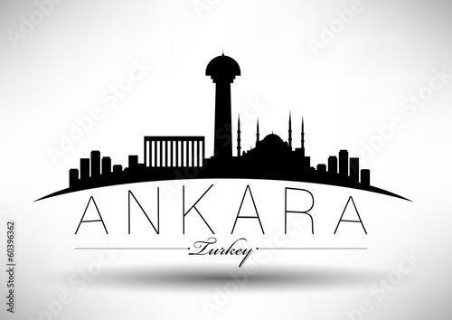 Modern Ankara Skyline Design Canvas Print