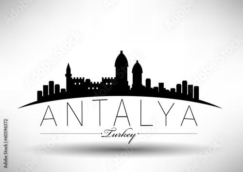 Fototapeta premium Nowoczesny projekt Skyline Antalya