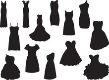 Dresses Illustrated On White