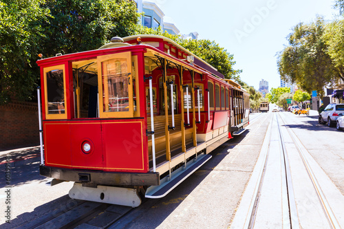 Deurstickers San Francisco San francisco Hyde Street Cable Car California