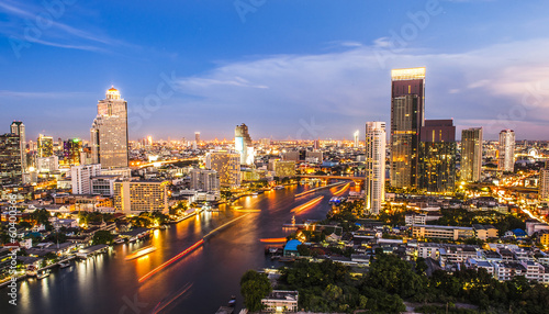 Foto op Aluminium Bangkok Bangkok city at night