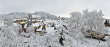 Brasov Covered By Fresh Snow