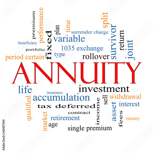 Photo Annuity Word Cloud Concept