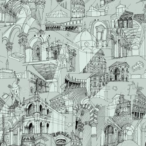 historyczny-wloski-architektura-kolazu-bezszwowy-wzor