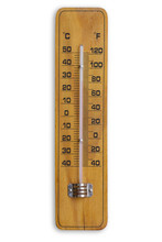 Wooden Retro Thermometer Isola...