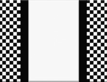 Black And White Checkered Frame With Ribbon Background