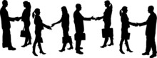 Vector Silhouette Business Peo...