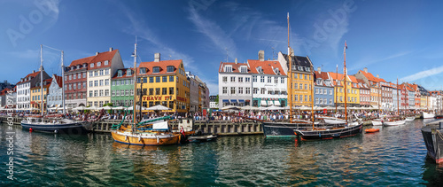 Photo  Panorama von Nyhavn in Kopenhagen