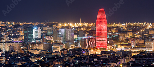 Foto op Canvas Barcelona Barcelona at night