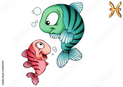 Fotografie, Obraz  Fische, Pisces, Poissons, Piscis, Sternzeichen, Tierkreiszeichen