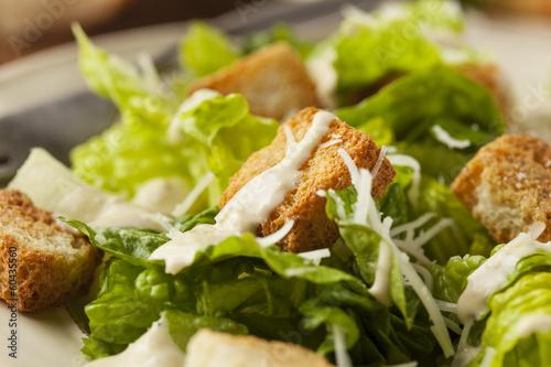 Fotografie, Obraz  Healthy Green Organic Caesar Salad