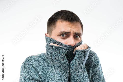 Fotografie, Obraz  man cold