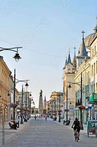 Fototapeta Piotrkowska Street, Lodz, Poland obraz