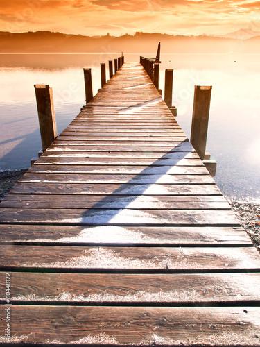 Obraz na płótnie wooden jetty (63)