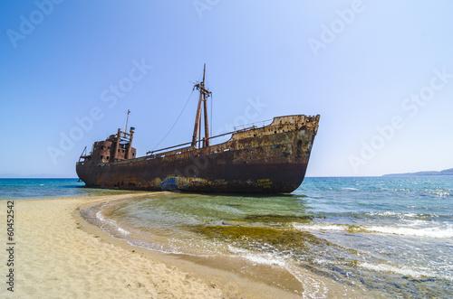 Photo Stands Shipwreck Gytheio shipwreck