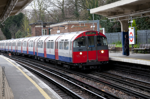 Fototapeta .Ealing common  London tube,London, United Kingdom