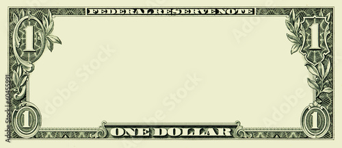 Fototapeta Blank one dollar bill obraz