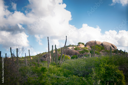 Ayo Rock Formation - Landmark on Aruba (Caribbean) Wallpaper Mural