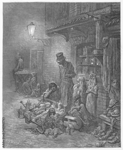 Houndsditch - Gustave Dore's London: a Pilgrimage Poster Mural XXL