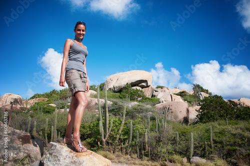 Photo  Ayo Rock Formation - Landmark on Aruba (Caribbean)