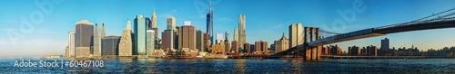 Foto op Aluminium New York New York City cityscape with Brooklyn bridge