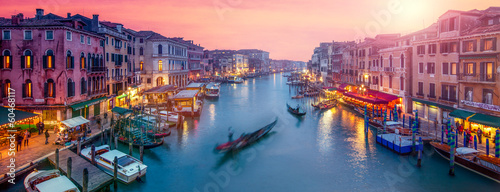 Cadres-photo bureau Gondoles Venedig Panorama