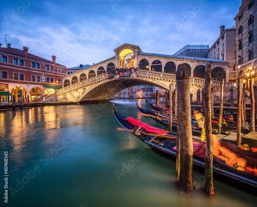 Aluminium Prints Venice Ponte di Rialto in Venedig