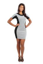 Standing African American Model Woman Posing