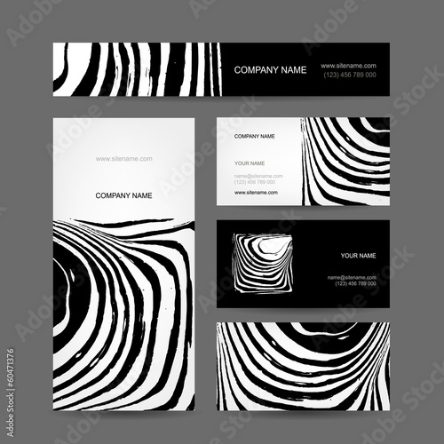 Set of abstract creative business cards zebra print design buy set of abstract creative business cards zebra print design reheart Choice Image