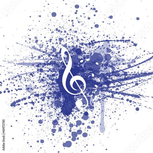 Sticker - Hintergrund Musik Noten Notenschlüssel