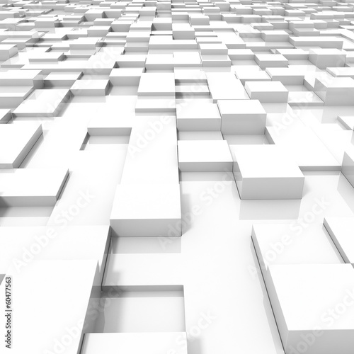 3d Abstract background made of 3d cubes