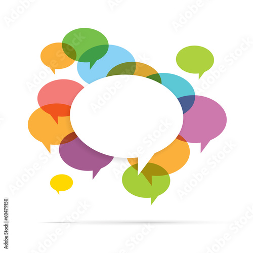 Colorful Speech Bubble Copyspace Fototapet