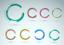 Collection Of Rings For Advertising