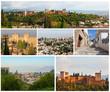 Set of photos with beautiful views of Granada, Spain