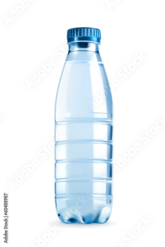 Fotografie, Obraz  Water bottle vector object