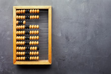 Accounting Abacus On Gray Text...