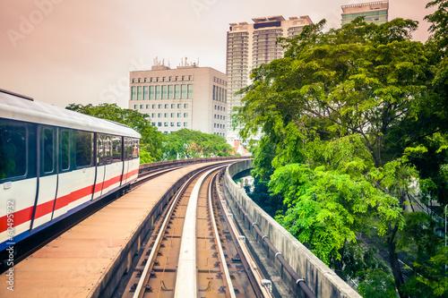 Canvas Prints Kuala Lumpur Sky train through the city center in Kuala Lumpu